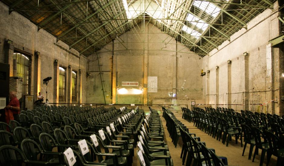 Cinema on the road - industrial hall